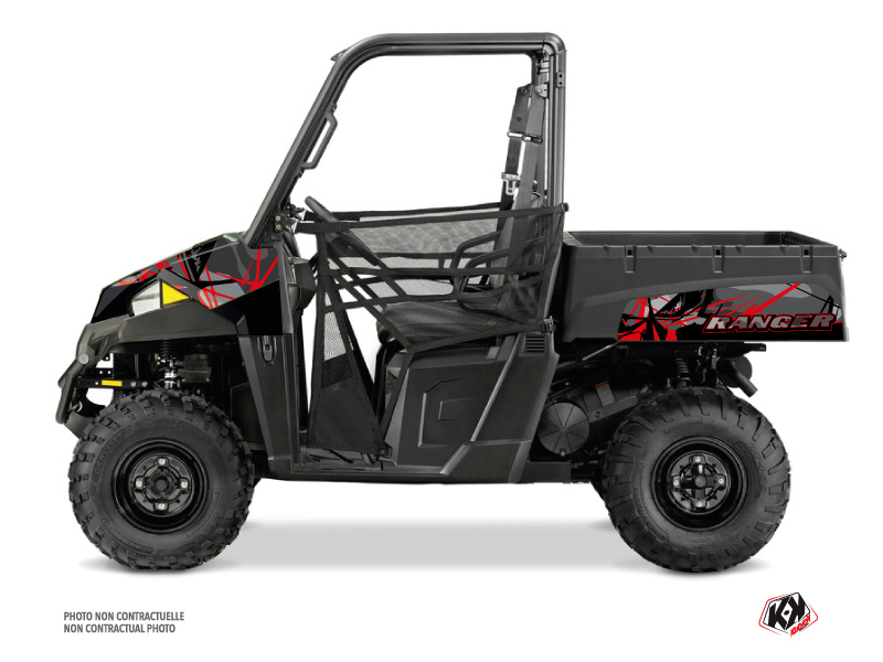 Polaris Ranger EV UTV Evil Graphic Kit Grey Red