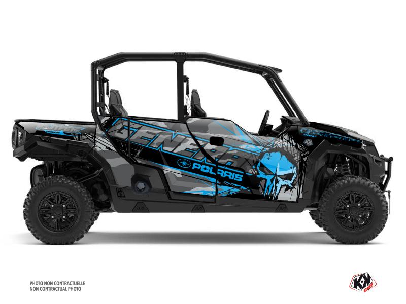 Polaris GENERAL 1000 4 doors UTV Evil Graphic Kit Grey Blue
