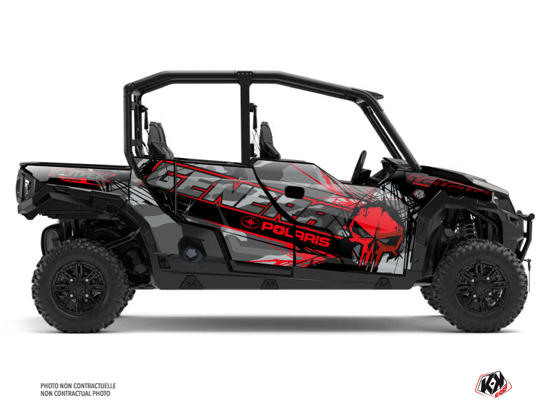Polaris GENERAL 1000 4 doors UTV Evil Graphic Kit Grey Red