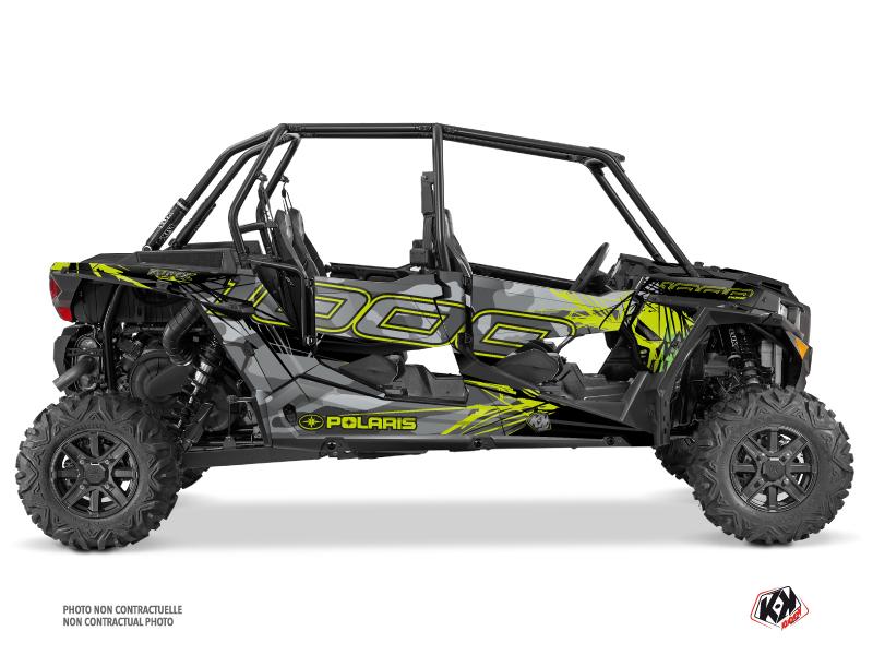 Polaris RZR 1000 4 doors UTV Evil Graphic Kit Grey Green