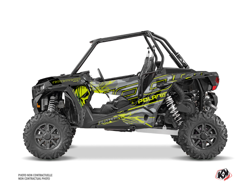 Polaris RZR 1000 UTV Evil Graphic Kit Grey Green