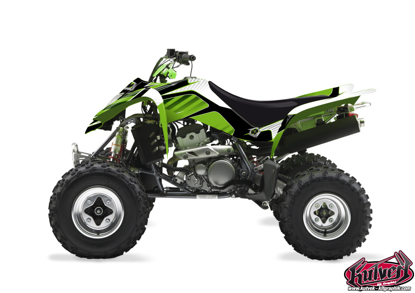 Kawasaki 400 KFX ATV Factory Graphic Kit