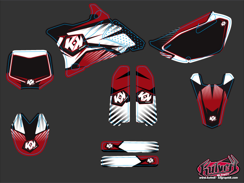 Kit Déco Moto Cross Factory Yamaha 85 YZ Rouge