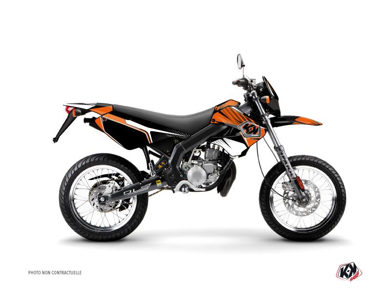 Derbi Xtreme / Xrace 50cc Factory Graphic Kit Orange