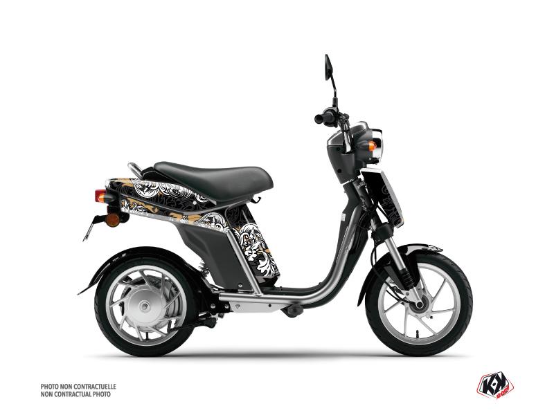 Yamaha Eco-3 Scooter Fashion Graphic Kit Gold