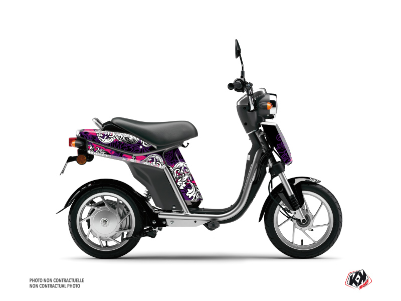 Yamaha Eco-3 Scooter Fashion Graphic Kit Pink