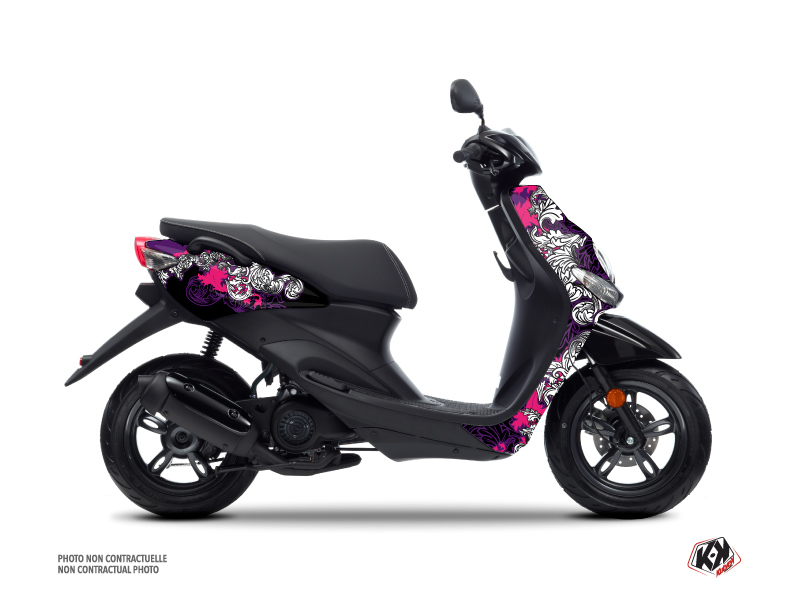 Kit Déco Scooter Fashion MBK Ovetto Rose