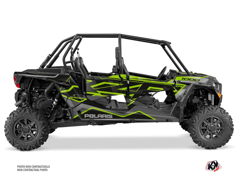 Polaris RZR 1000 4 doors UTV Faster Graphic Kit Neon Grey