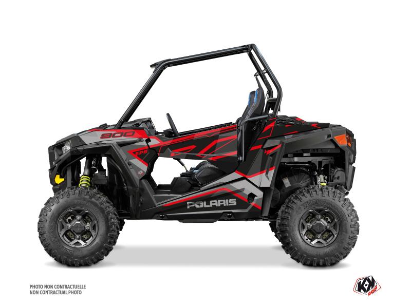 Polaris RZR 900 S UTV Faster Graphic Kit Black Red