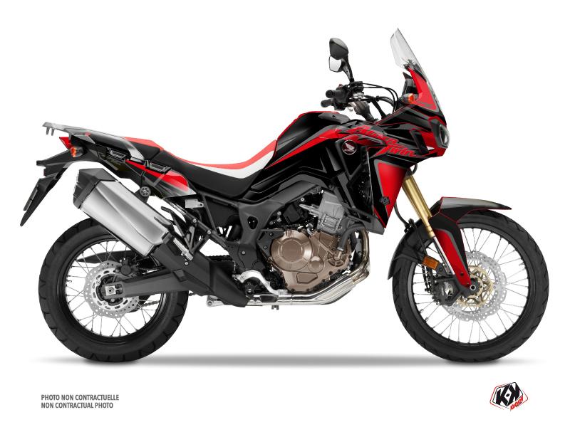 Honda Africa Twin CRF 1000 L Street Bike fighter Graphic Kit Red Black
