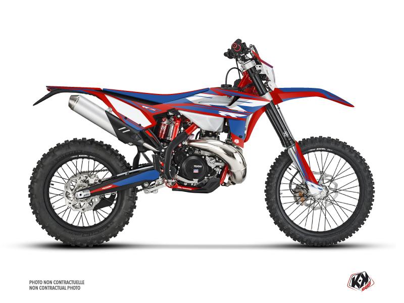 Beta 200 RR 2-stroke Dirt Bike FIRENZE Graphic Kit Red Blue