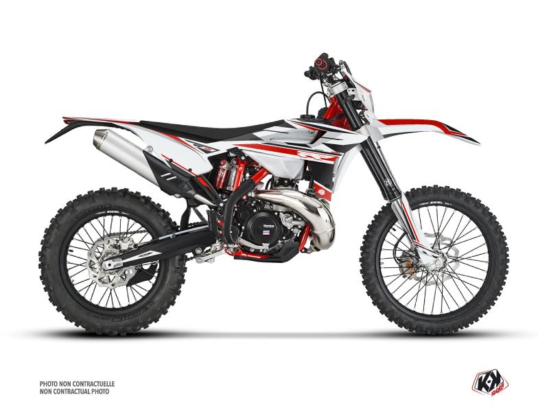 Beta 300 RR 2-stroke Dirt Bike FIRENZE Graphic Kit White Red Black