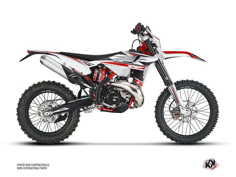 Kit Déco Moto Cross FIRENZE Beta RR 4T 390 Blanc Rouge Noir
