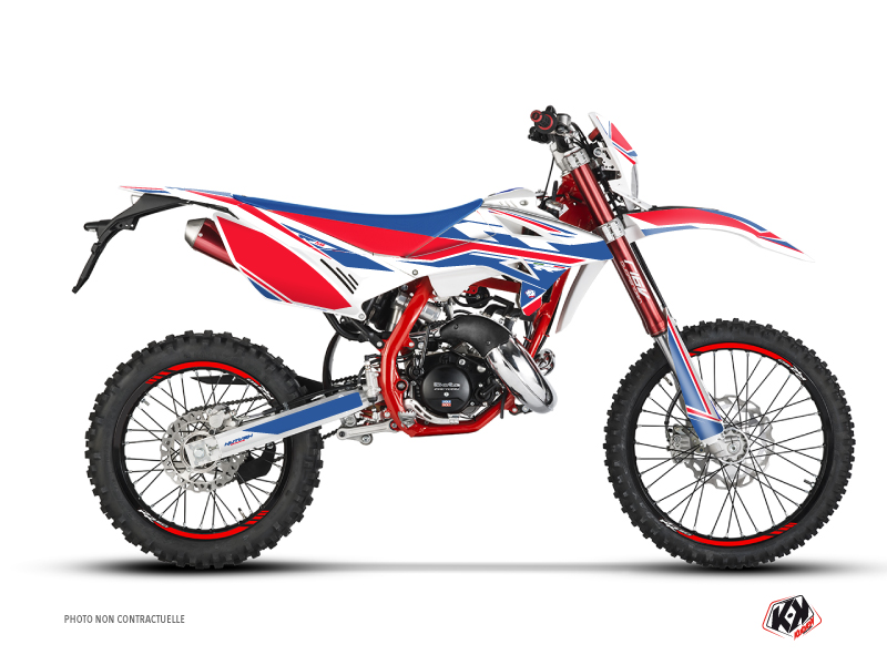 Beta RR 50 Enduro 50cc FIRENZE Graphic Kit White Red Blue