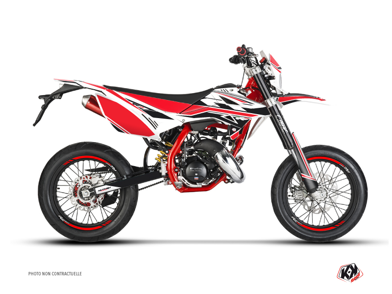 Beta RR 50 Motard 50cc FIRENZE Graphic Kit White Red Black
