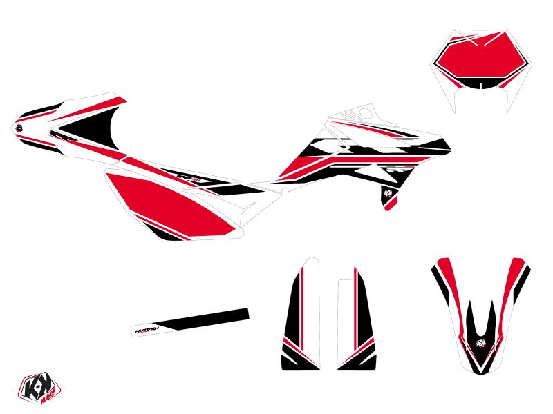 Kit Déco 50cc FIRENZE Beta RR 50 Motard Blanc Rouge Noir