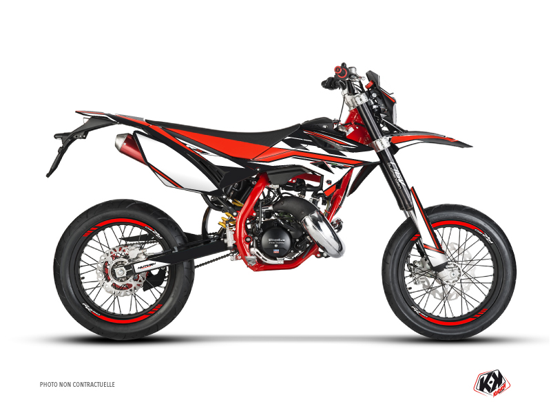 Beta RR 50 Motard 50cc FIRENZE Graphic Kit Black Red White