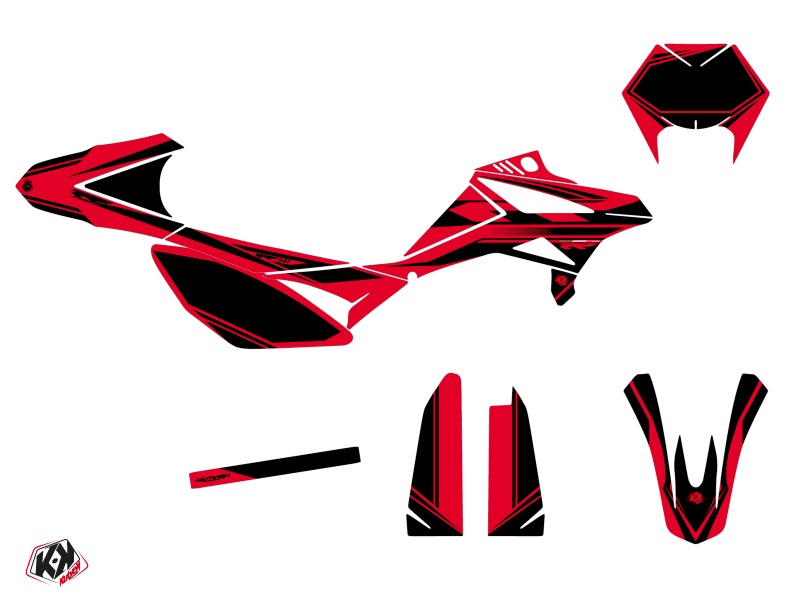 Beta RR 50 Motard 50cc FIRENZE Graphic Kit Red Black
