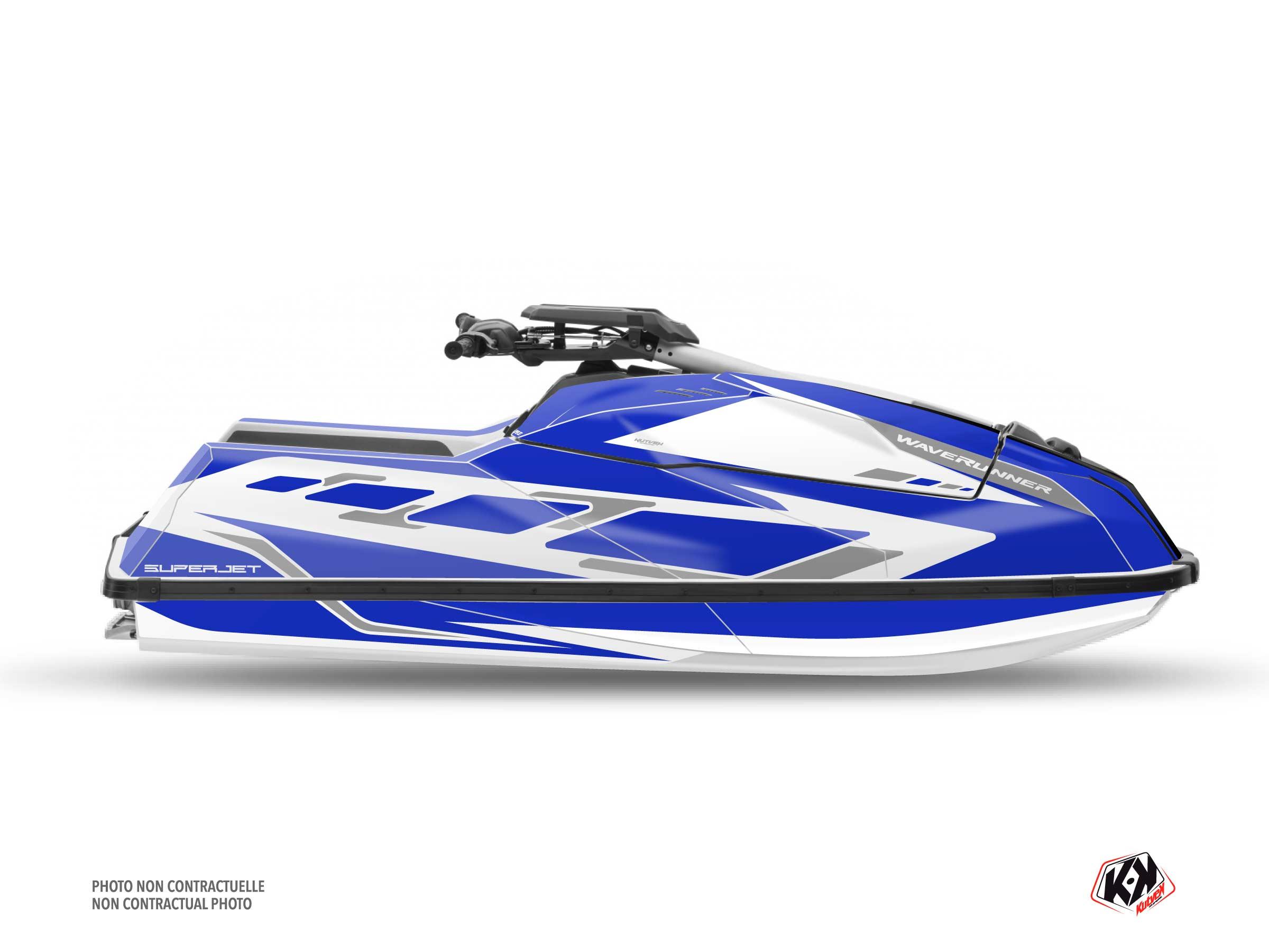 Yamaha Superjet 2021 Jet-Ski FLAGSHIP Graphic Kit Blue