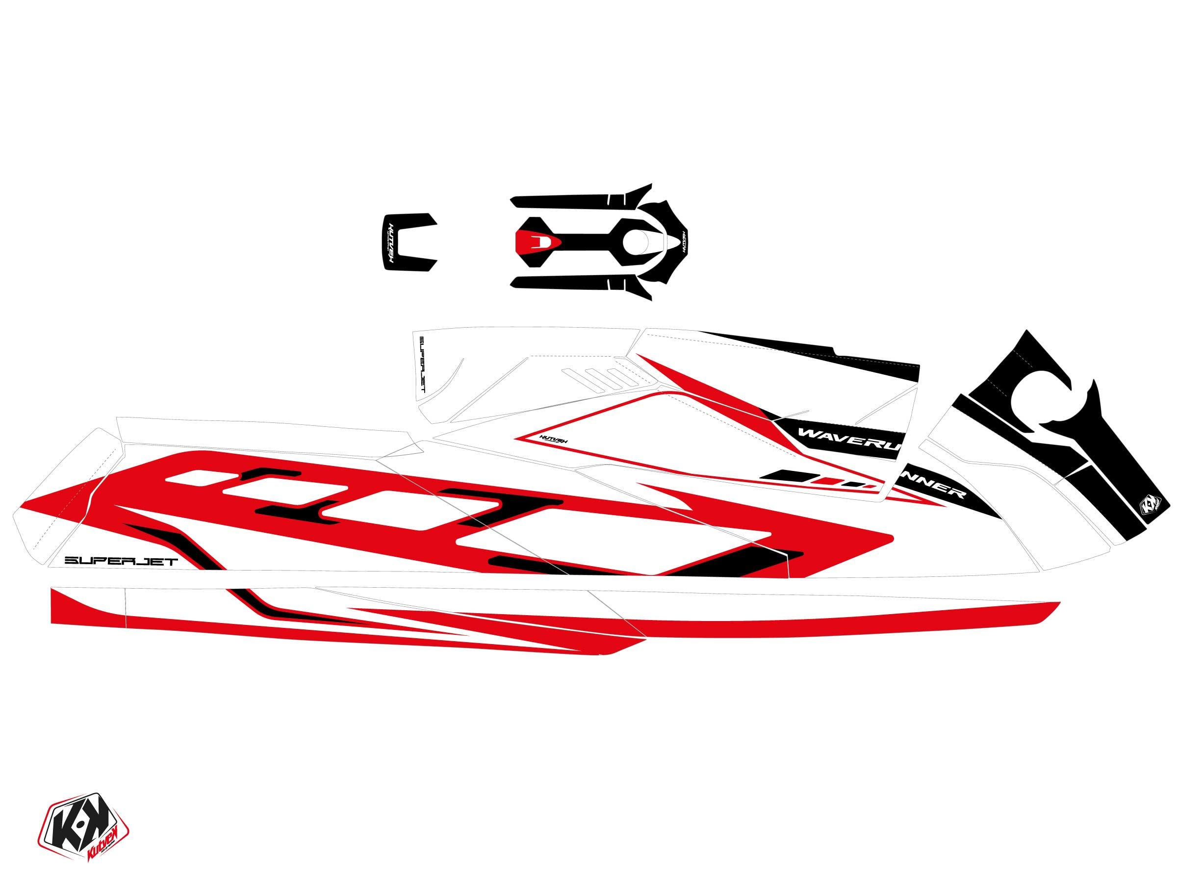 Kit Déco Jet-Ski FLAGSHIP Yamaha Superjet 2021 Rouge