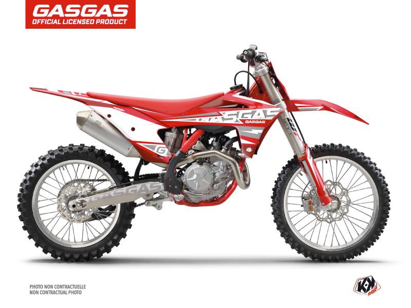 GASGAS MCF 450 Dirt Bike Flash Graphic Kit Red