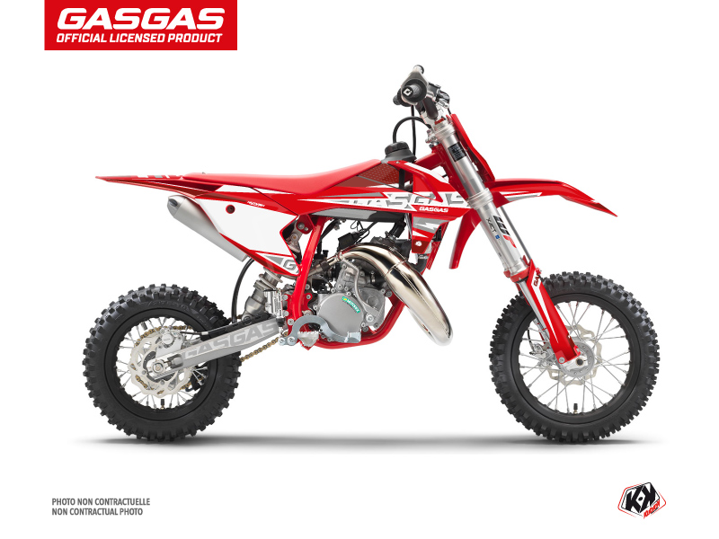 Kit Déco Moto Cross Flash GASGAS MC 50 Rouge