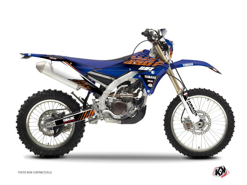 Kit Déco Moto Cross Flow Yamaha 250 WRF Orange