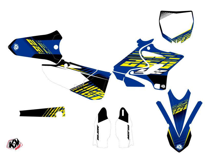 Kit Déco Moto Cross Flow Yamaha 250 YZ Jaune