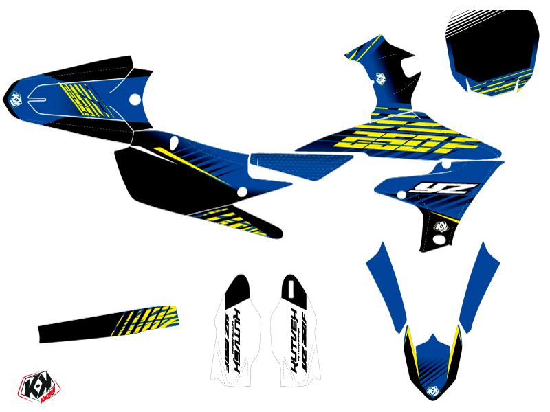 Yamaha 250 YZF Dirt Bike Flow Graphic Kit Yellow