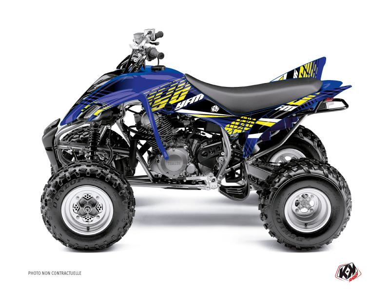 Yamaha 350 Raptor ATV Flow Graphic Kit Yellow