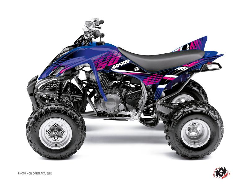 Yamaha 350 Raptor ATV Flow Graphic Kit Pink