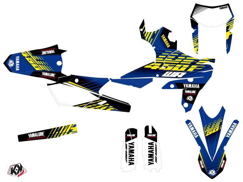 Yamaha 450 WRF Dirt Bike Flow Graphic Kit Yellow