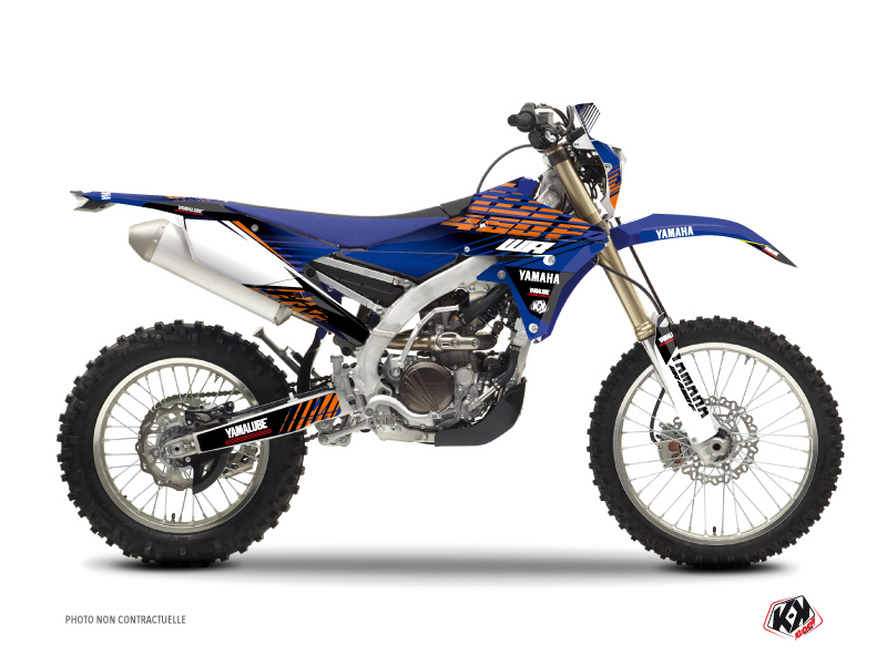 Kit Déco Moto Cross Flow Yamaha 450 WRF Orange