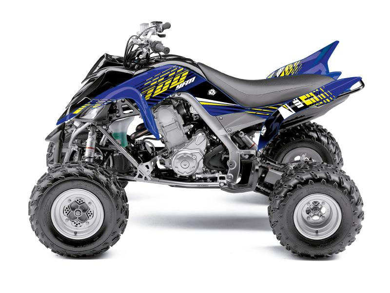Yamaha 660 Raptor ATV Flow Graphic Kit Yellow