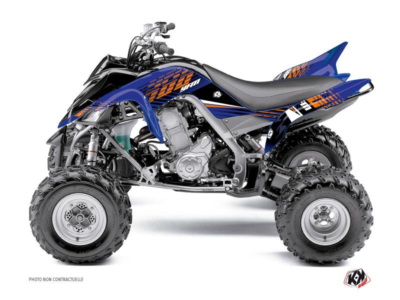 Yamaha 660 Raptor ATV Flow Graphic Kit Orange