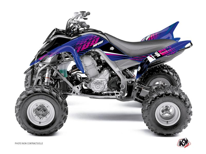 Yamaha 700 Raptor ATV Flow Graphic Kit Pink