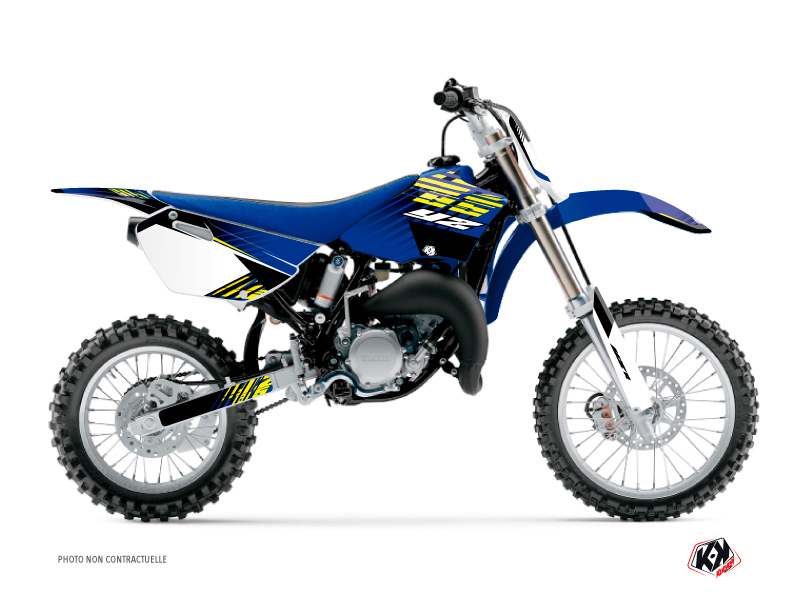 Yamaha 85 YZ Dirt Bike Flow Graphic Kit Yellow