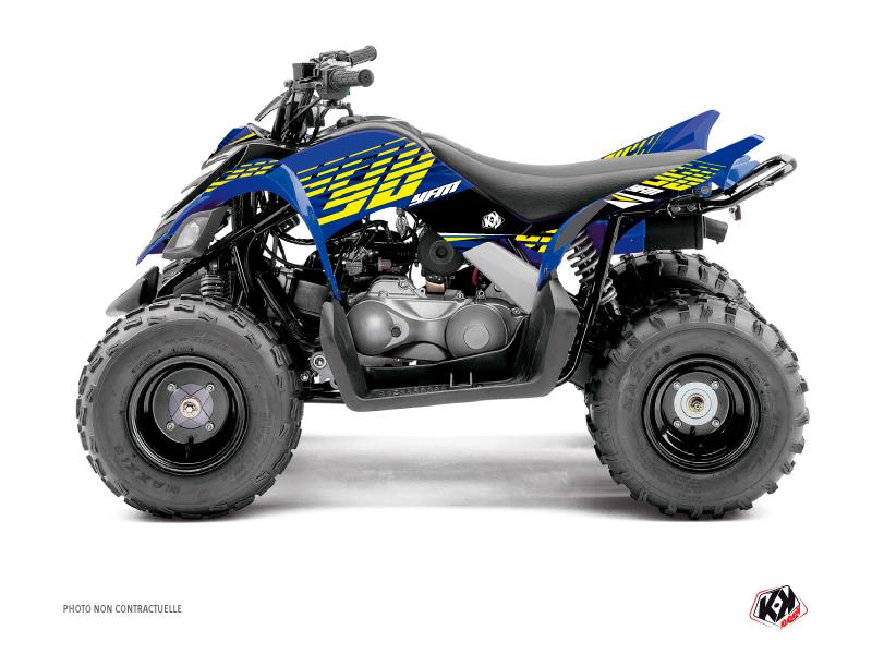 Yamaha 90 Raptor ATV Flow Graphic Kit Yellow