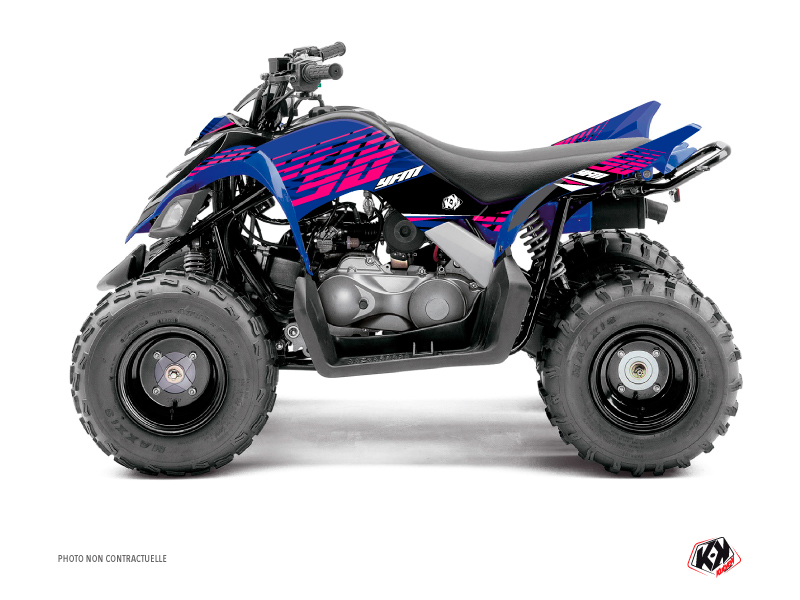Yamaha 90 Raptor ATV Flow Graphic Kit Pink