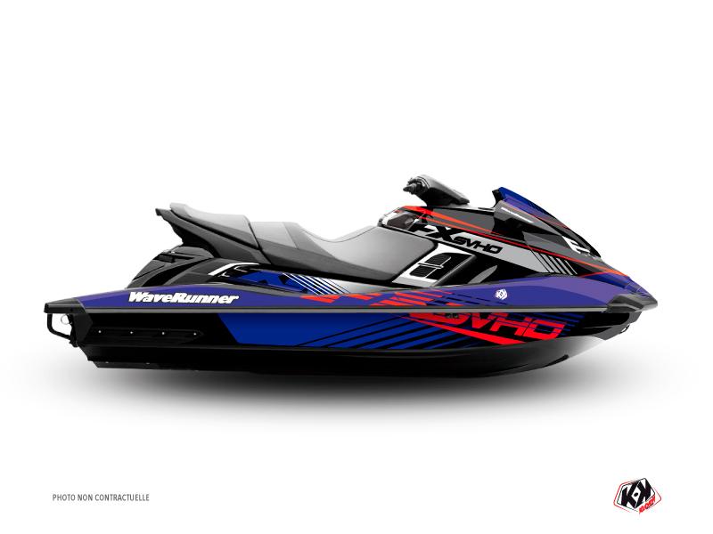 Yamaha FZR-FZS Jet-Ski Flow Graphic Kit Red