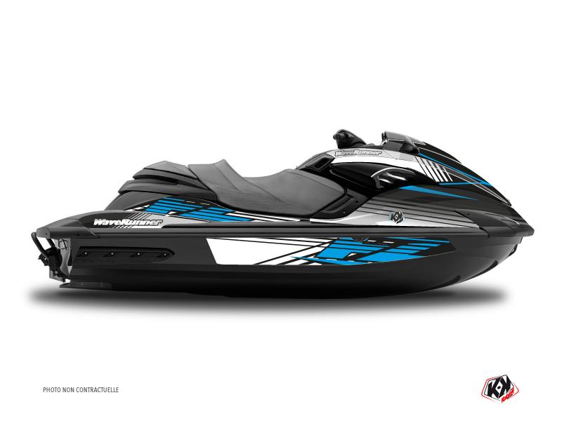 Yamaha FZR-FZS Jet-Ski Flow Graphic Kit Blue