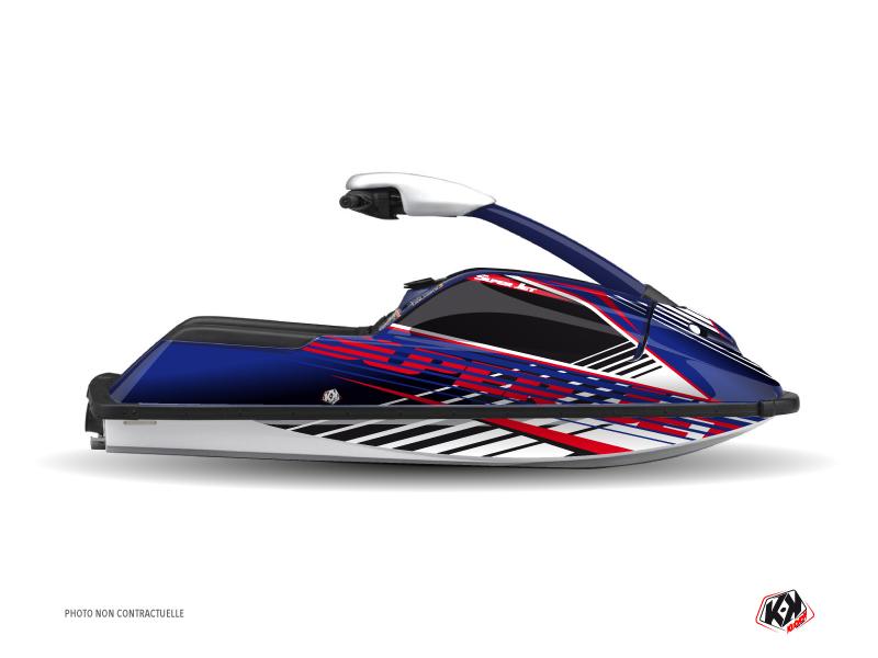 Yamaha Superjet Jet-Ski Flow Graphic Kit Red