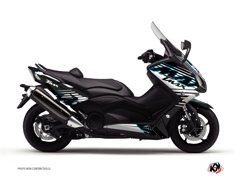 Yamaha TMAX 500 Maxiscooter Flow Graphic Kit Blue
