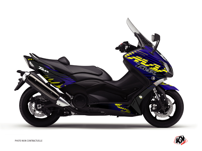Yamaha TMAX 500 Maxiscooter Flow Graphic Kit Yellow