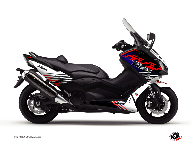 Yamaha TMAX 500 Maxiscooter Flow Graphic Kit Red