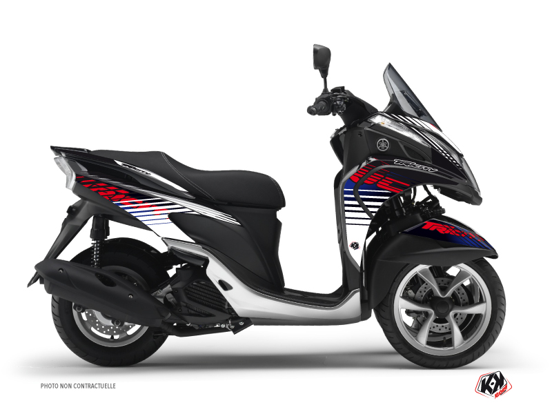 Yamaha TRICITY Maxiscooter Flow Graphic Kit Red