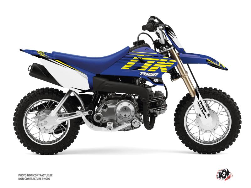 Kit Déco Moto Cross Flow Yamaha TTR 50 Jaune