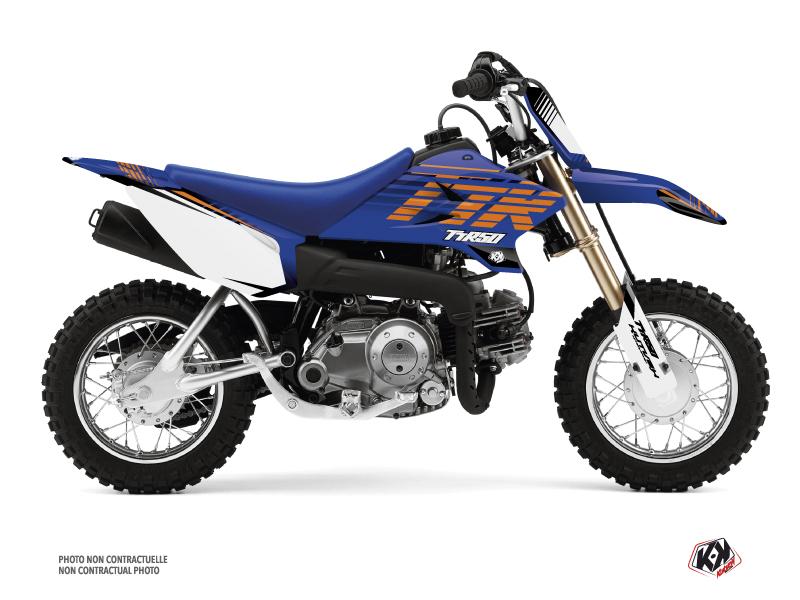 Kit Déco Moto Cross Flow Yamaha TTR 50 Orange