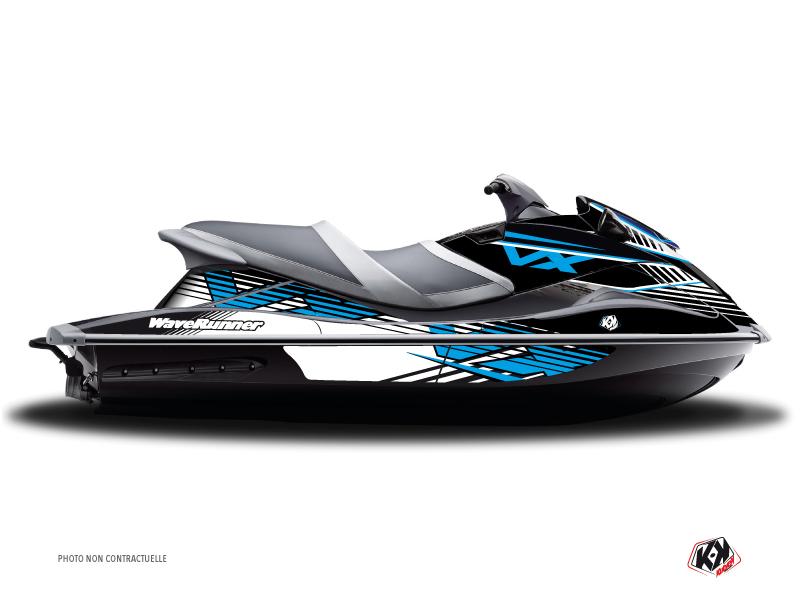 Yamaha VXR-VXS Jet-Ski Flow Graphic Kit Blue