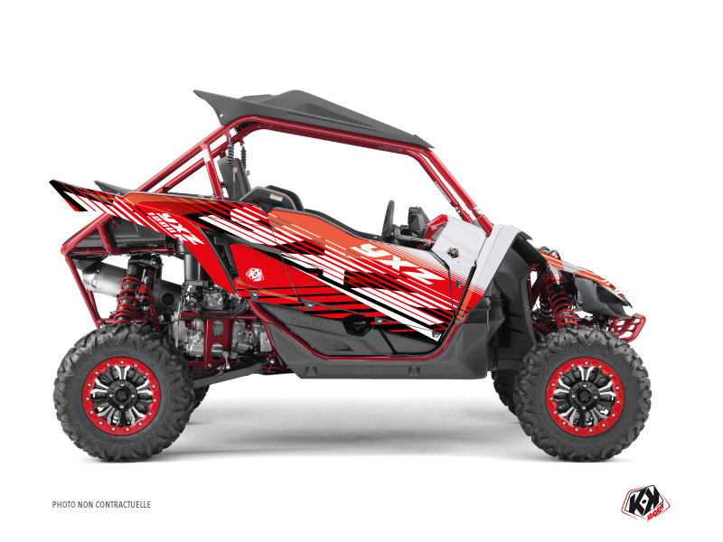 Yamaha YXZ 1000 R UTV Flow Graphic Kit Red